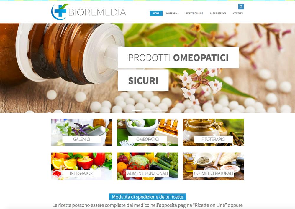 bioremedia Sviluppo e-commerce prodotti omeopatici con ricette personalizzate