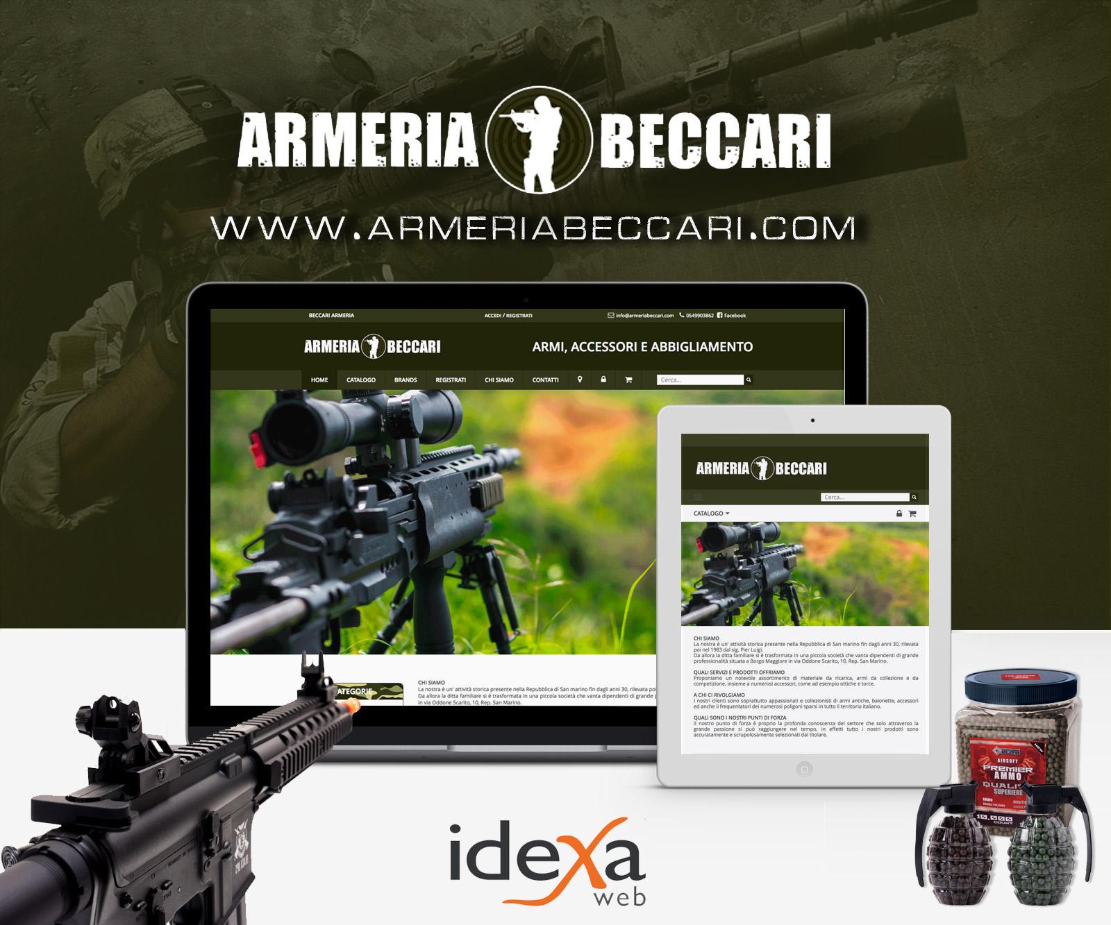 sviluppo ecommerce armeria softair