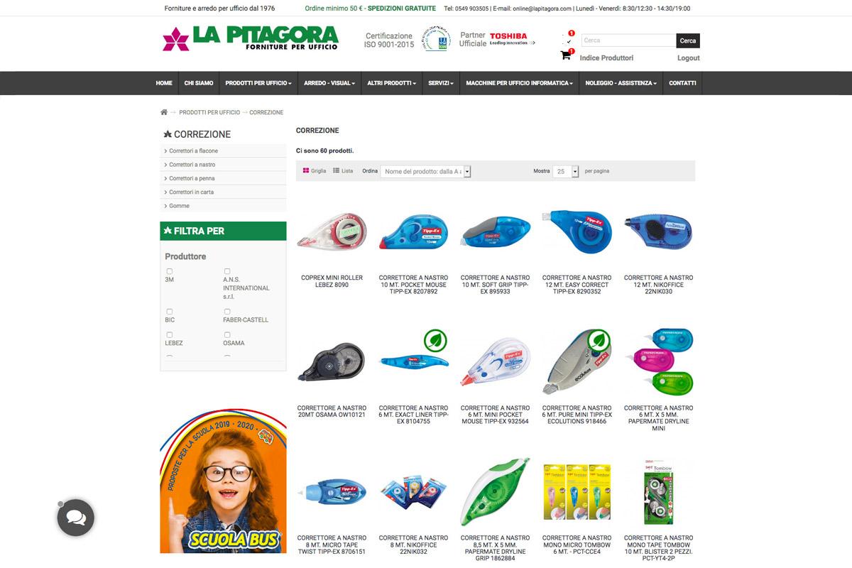realizzazione-ecommerce-personalizzato-san-marino-LA-PITAGORA-prodotti